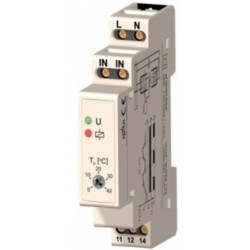 TM01 din rail thermostaat, 5~40'C, 16A, 230V, wisselkontakt (no/nc), vaste hysterese +/-0.5