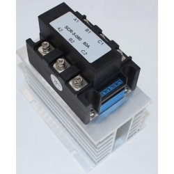 SOLID STATE RELAIS 3FASE 400V/100A, 0-10VDC, PROPORTIONEEL