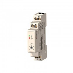 TM03 -10~90˚C Din Rail thermostaat. instelbare hysterese, wisselcontact 16A 250Vac