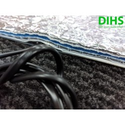 DIHS mirrorheater 27cm x 72cm 230Vac 40W met high tech isolatie 10mm